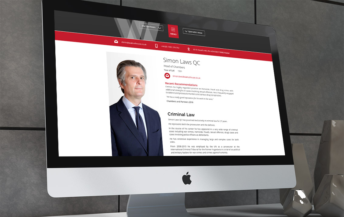 barristers web design 1 - Walnut House