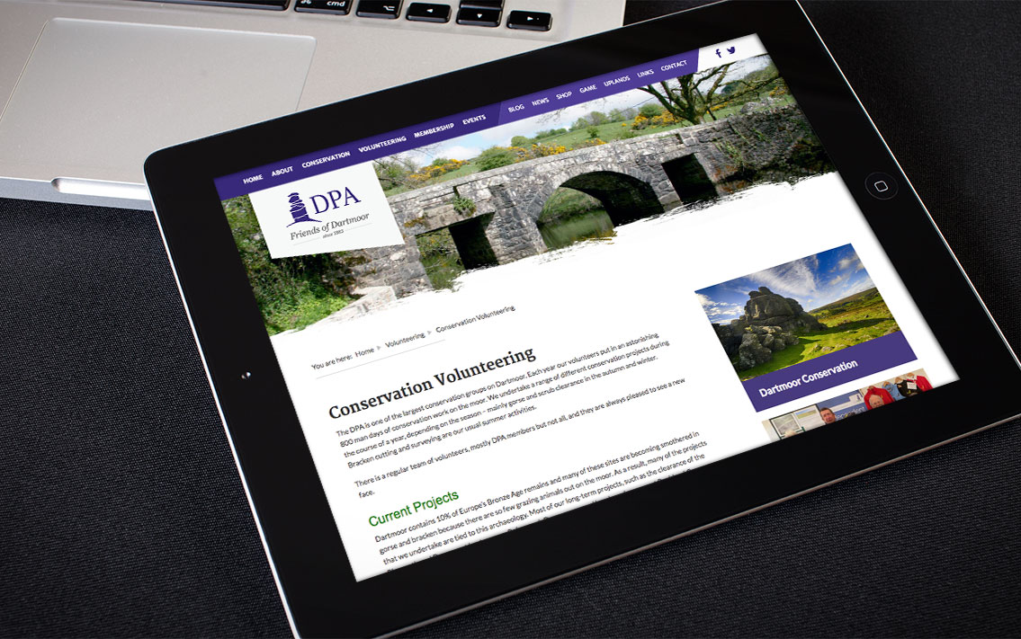 charity website devon - Dartmoor Preservation