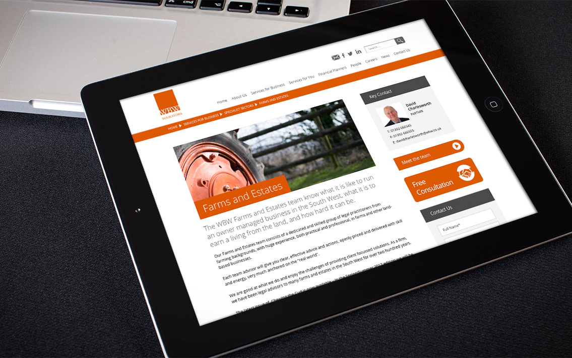 law firm web design - WBW Solicitors