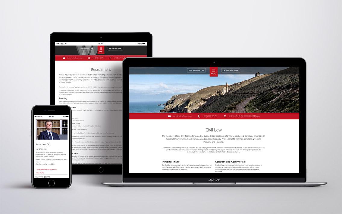 lawyer website design - Walnut House
