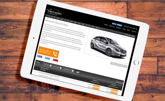 Mercedes On Lease - Web Design and Marketing