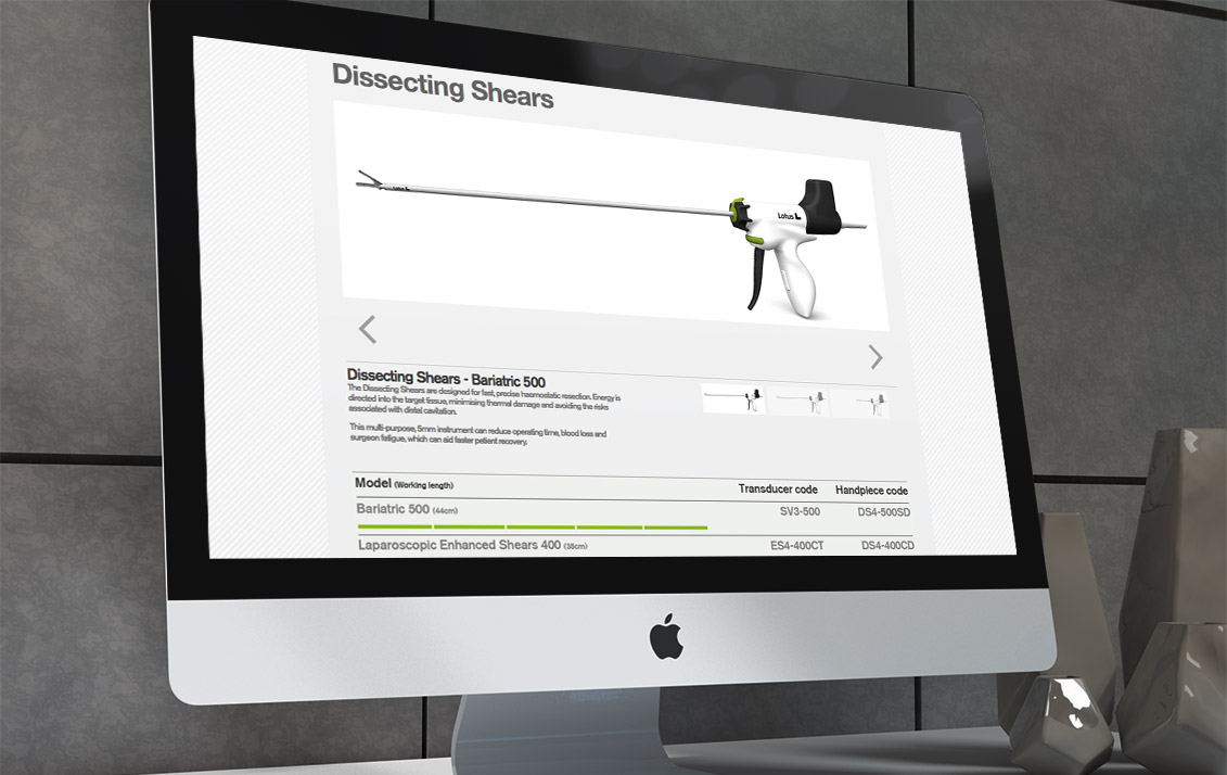 web design sheers - Lotus Ultrasonic Scalpel