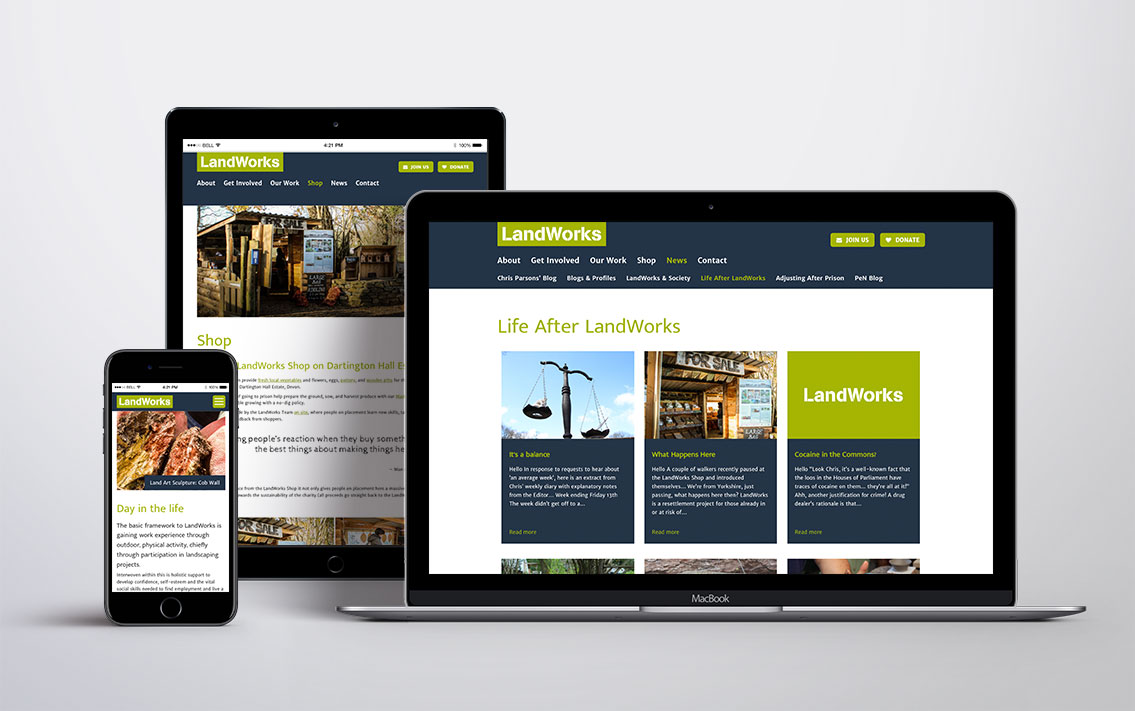 web design totnes - LandWorks