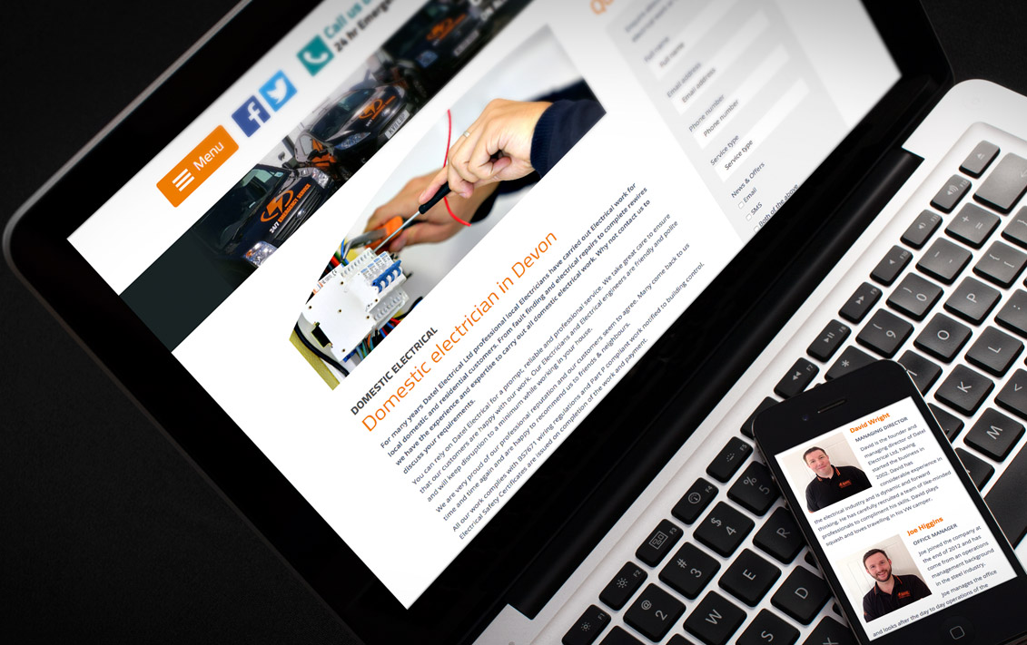 electrician website - Datel Electrical